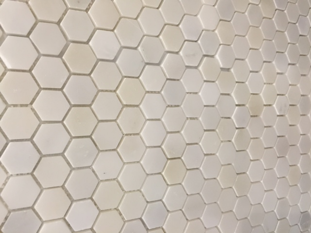 Hexagon Pure White Mosaic 25mm Honed | Premier Tile Gallery ...